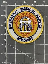 Vintage Emergency Medical Service Baldwin Georgia Paramedic Patch EMS GA EMT EMA