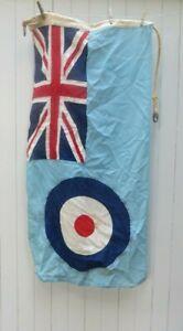 ANTIQUE VINTAGE RAF ROYAL AIR FORCE ROUNDEL & SQUADRON LEADERS UNION JACK FLAG