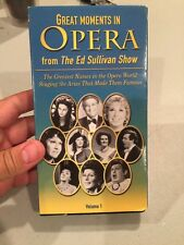 Great Moments In Opera From The Ed Sullivan Show VHS Volume 1