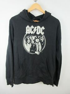 ACDC 2017 Mens Jumper Sweater Size L Hoodie Hooded Graphic Print Retro Adult