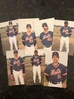 New York Mets 25th Anniversary Postcard Lot Of 7 Antique Vintage RARE
