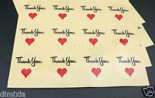 Clear Round Invitation THANK YOU Love Birthday Party Wedding Seal Sticker Label