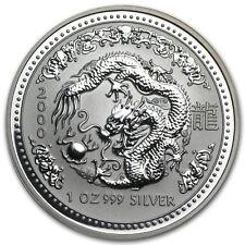 2000 Australia 1 oz Silver Year of the Dragon BU - SKU #1104