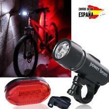 Set juego de luces Led para bicicleta luz delantera y trasera faro antorcha bici