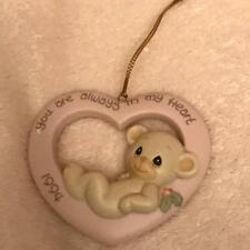 """Precious Moments Christmas Ornament """"You Are Always In My Heart"""" 530972 1994 Te"""
