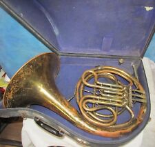 Vintage A K HUTTL  French Horn w/White Mouthpiece/Case J0621