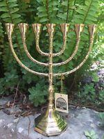 Menorah Jerusalem Temple 10 Inch Height 25 Cm 7 Branches Brass
