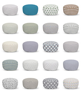 Ambesonne Modern Image Ottoman Pouf Decor Soft Foot Rest & Removable Cover