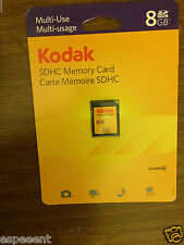 Kodak 8gb Secure Digital SDHC memory card storage 8 gb retail pack+free shipping