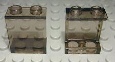 Lego Fenster Scheibe 1x2x2 Transparent Rauchglas 2 Stück                  (2178)