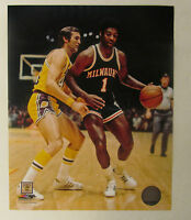 "Oscar Robertson Jerry West LA Lakers  LICENSED 8x10 Photo ""VERY RARE PHOTO"""