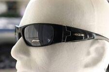 New Men Gloss Black Wrap Around Shielded X-loop Sunglasses Baseball Motor-cycle