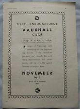 1945 Vauxhall Original advert No.2