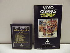 Atari 2600 Game Cartridge Video Olympics W/Manual
