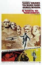 North By Northwest movie poster  : 11 x 17 inches Cary Grant, Alfred Hitchcock