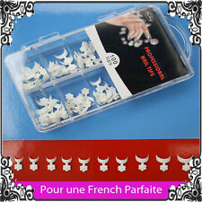 LIV 48h 100 MINI TIPS FRENCH BLANCHE CAPSULES FAUX ONGLES NAIL ART GEL UV RESINE