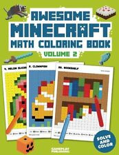 Coloring Book Awesome Minecraft Math Pixelated Art Kids Creative Books School