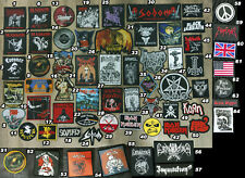 Various Rock & Metal Band Patches Part 4