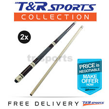 "2x 4-Piece EastPoint Adjustable Length Brown Pool Cue 43"" 48"" 52"" 57"" Free Post"