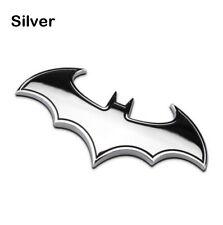 3d Metal Batman Dark Knight Batwing Sticker Decal Emblem Badge Car Silver