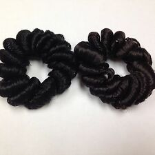 SCRUNCHIE BLACK SYNTHETIC COILY HAIR PONYTAIL PIECE HOLDER HAIR FILLER