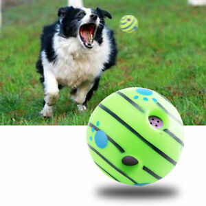 NEW Wobble Giggle Ball Dog Play Training Pet Toy With Funny Sound Hot No Harm