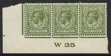 N43(3) 9d Deep Olive Green Block Cypher Control W35 imperf UNMOUNTED MINT/MNH