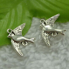 20 Tibetan Silver Swallow Bird Connector 21x17mm Charms for Bracelet & Necklace