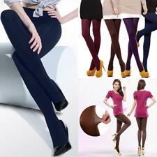 120D Solid mujeres gruesas Mallas Pantimedias Calcetines Cálido de piqueros de patas Terciopelo Suave