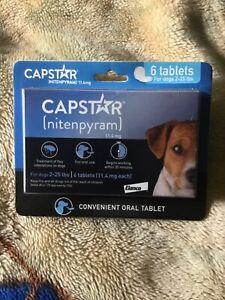 Capstar Oral Flea Treatment for 2-25 lbs Dogs – 6 Tablets