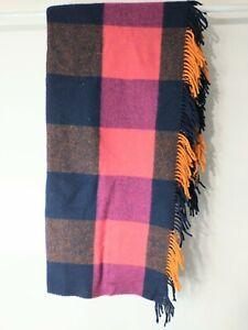 "Johnstons of Elgin The Utility Rug Throw Blanket 100% Lambswool 60""x68"""