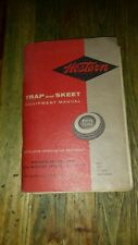 1959  WESTERN TRAP AND SKEET EQUIPTMENT MANUAL