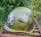 Original USSR Military Army Helmet Painted Art Theme 'The Aviation in WW2'