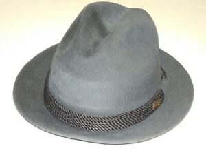 BAILEY HAT VELOUR GENTRY GREY SIZE 6 3/4 SMALL RETAILS $225