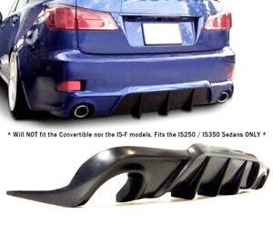 Fits LEXUS IS250 IS350 - REAR DIFFUSER Bumper Lip Spoiler (2006-2013) Black