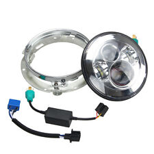 """For Harley 7"""" Motorcycle Projector Daymaker LED Headlight + Extension Trim Ring"""