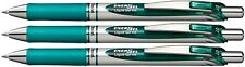 3 X Pentel EnerGel Turquoise blue INK Retractable Gel Roller Ball Pen 0.7mm BL77