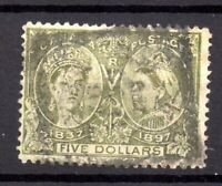 Canada QV 1897 $5 Jubilee used SG140 WS18051