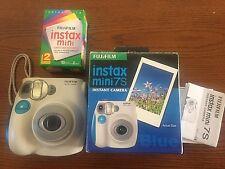FUJIFILM Instax Mini 7S Blue Instant Film Camera W/Bonus Film!!!