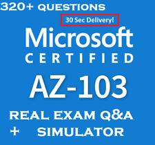 Microsoft Azure Administrator AZ-103 Questions And Simulator 30 Sec Delivery 🔥✔