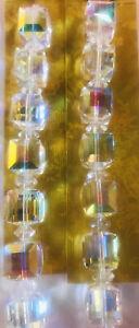 Larger Swarovski Crystal Cube Beads 10mm