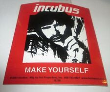 Incubus Sticker New 2001 Vintage Oop Rare Collectible