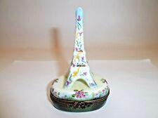 Peint Main Limoges Trinket-Eiffel Tower In The Springtime