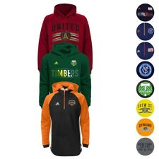 MLS Adidas Team Logo Performance Pullover Hoodie Fleece Collection Youth (S-XL)