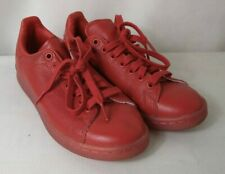 ADIDAS Children's trainers bright red Stan Smiths with lace fastening UK size 5