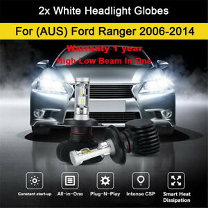 For 2013 2014 Ford Ranger PX PK PJ 2x Headlight Globes High Low Beam LED Bulb A3