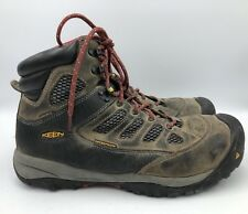 Keen Brown Leather Steel Toe Mens Hiking /Work Boots Size 10.5 F2413-11