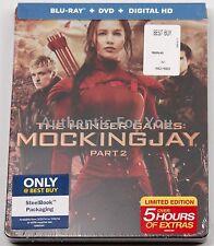 2016 Hunger Games Mockingjay Part 2 Blu-Ray DVD Digital HD Best Buy SteelBook