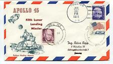 1971 Apollo 15 Fifth Lunar Landing Mission Falkon Hadley Apenin Space Cover