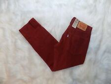 0e1c49cb5537fe New Levis 502 Regular Taper Corduroy Jeans Stretch Mens Red Cord 30 x 30  Jeans